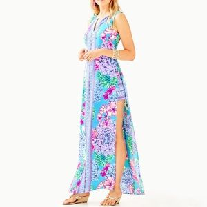 Lilly Pulitzer Donna Maxi Romper -Special Delivery
